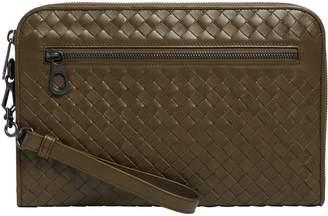 Leather Intrecciato Document Case