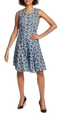 Tommy Hilfiger Bumble Bee Lace Fit-&-Flare Dress