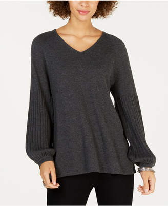 Style&Co. Style & Co Bishop-Sleeve Tunic Sweater, Created for Macy's