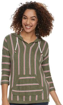 Sonoma Goods For Life Women's SONOMA Goods for Life Striped Baja Hooded Sweatshirt