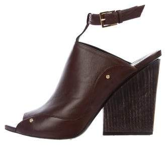 Maiyet Leather Peep-Toe Booties