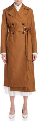 Jil Sander Pleated Belted Trench Coat