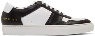 Common Projects Black and White Basketball Duo Tone Low-Top Sneakers