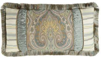 """Austin Horn Classics Cannes Pieced Pillow, 13"""" x 26"""""""