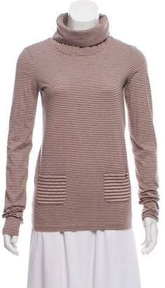 Chanel Striped Turtleneck Top