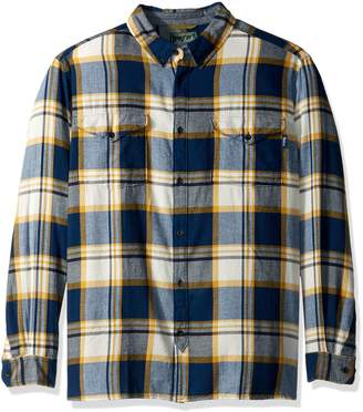 Woolrich Men's Stone Rapids Organic Cotton Yarn-dye Flannel Shirt, -, Extra Large