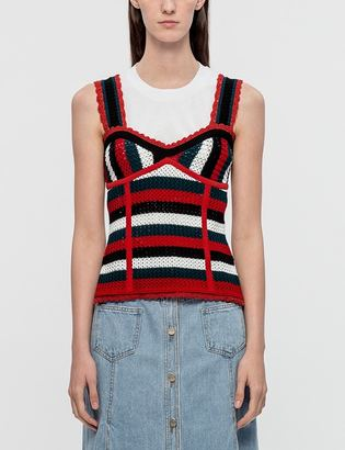 SJYP Stripe Bustier Knit Top $215 thestylecure.com