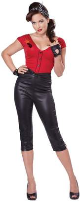 California Costumes Women's Hot Rod Honey Sexy 50's Pin Up Costume, Red/Black