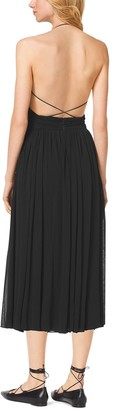 Michael Kors Matte-Jersey Cutout Maillot Dress