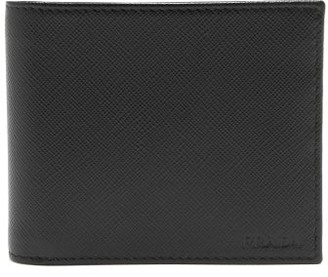 Prada Bi Fold Saffiano Leather Wallet - Mens - Black