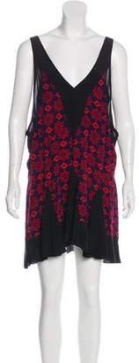 Balenciaga Printed Silk Mini Dress