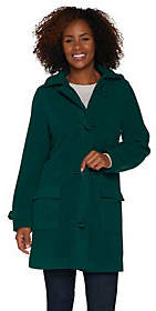 Denim & Co. Microfleece Lined Toggle Coat w/Removable Hood