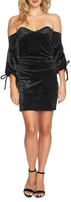 Cynthia Steffe Aubrey Off-the-Shoulder Velvet Dress