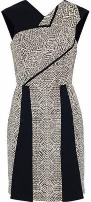 Roland Mouret Jenolan Crepe And Tweed Mini Dress