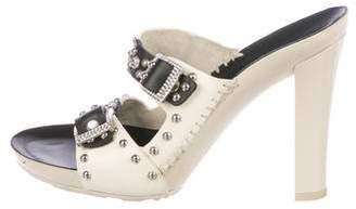 Casadei Leather T-Strap Sandals