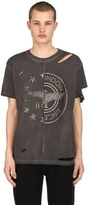 Boy London Destroyed Patchwork Jersey T-Shirt