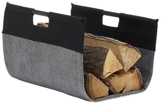 Charcoal Felt Log Carrier