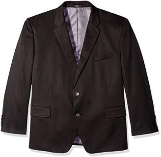 Haggar Men's Big-Tall Travel Performance Heather 2-Button Classic Fit Coat