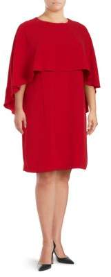 Vince Camuto Plus Cape Sleeve Dress