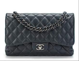 Chanel Timeless/Classique Navy Leather Handbag
