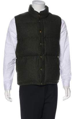 Crescent Down Works Wool Quilted Puffer Vest