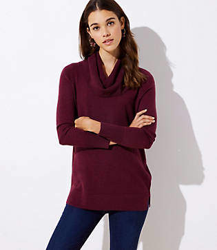 LOFT Cowl Neck Tunic Sweater