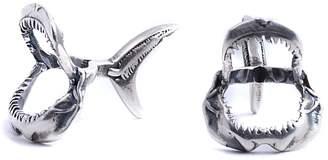 Lee Renee Shark Jawbone Cufflinks Silver