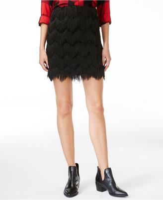 Maison Jules Fringe Mini Skirt, Created for Macy's $69.50 thestylecure.com