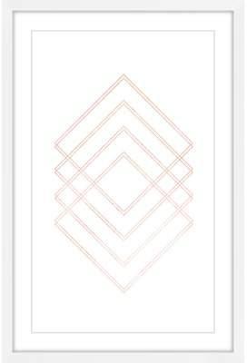 Wayfair 'Diamond Hologram III' Framed Acrylic Painting Print
