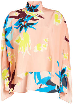 DELPOZO Printed Silk Blouse
