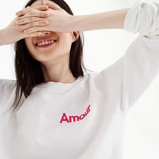 "J.Crew ""Amour"" sweatshirt"