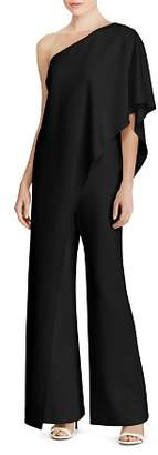 Ralph Lauren Ruffle One-Shoulder Jumpsuit