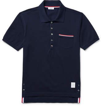 Thom Browne Mercerised Cotton-piqué Polo Shirt