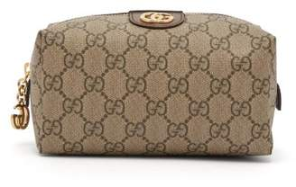 Gucci Ophidia Gg Supreme Canvas Make Up Bag - Womens - Brown Multi