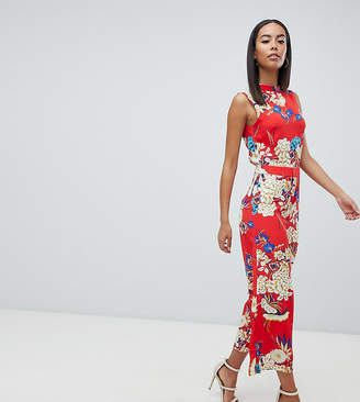 Missguided Tall Open Back Floral Culotte Jumpsuit