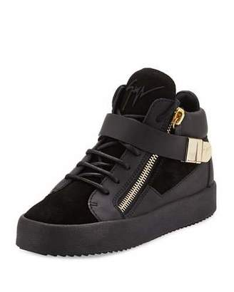 Giuseppe Zanotti May London High-Top Sneaker, Nero $825 thestylecure.com