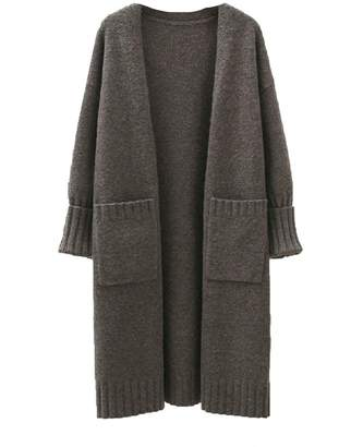 Goodnight Macaroon 'Ashley' Pocket Front Long Cardigan (4 Colors)