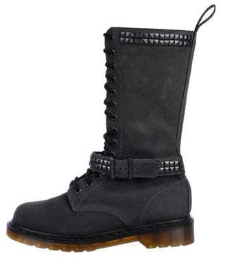 Dr. Martens Suede Mid-Calf Boots