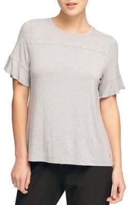 Donna Karan Active Bell-Sleeve Slit Tee