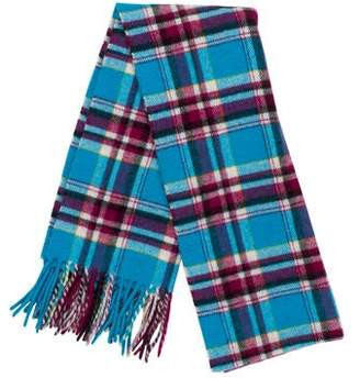 Marc Jacobs Plaid Cashmere Scarf