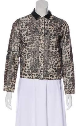 Etoile Isabel Marant Animal Print Long Sleeve Jacket