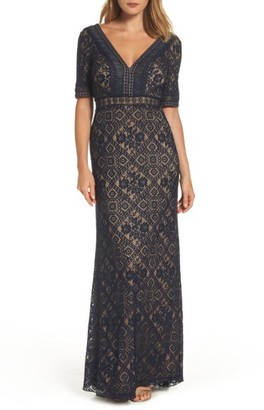 Women's Tadashi Shoji Lace Gown $528 thestylecure.com