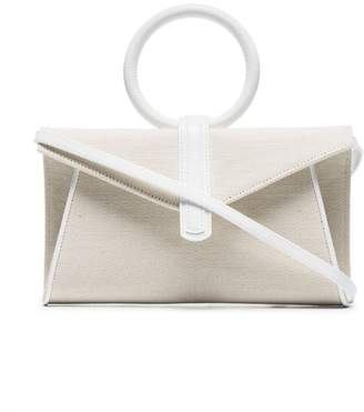 Valery Complet neutral mini leather and cotton cross body bag