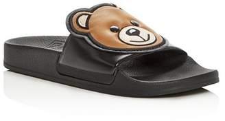 Moschino Women's Teddy Bear Pool Slide Sandals