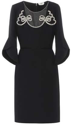 Fendi Wool and silk crêpe dress