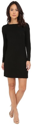 Christin Michaels - Avery Boat Neck Long Sleeve Dress Women's Dress $64 thestylecure.com