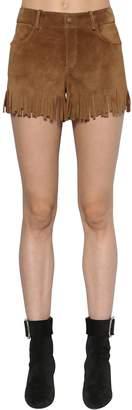 Saint Laurent Fringed Suede Shorts