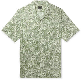 Todd Snyder Liberty London Camp-Collar Printed Cotton-Poplin Shirt - Men - Green