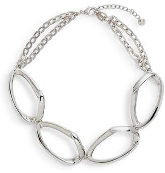 Halogen Chain Link Collar Necklace
