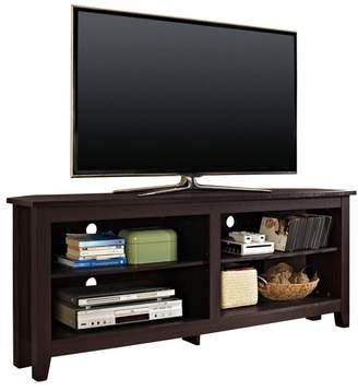 Walker Edison Furniture, LLC WE Furniture 58 Wood Corner Media TV Stand Storage Console